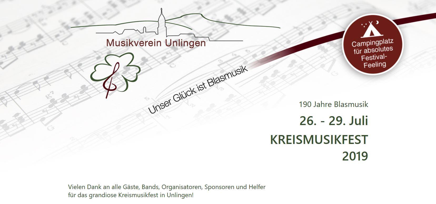 Eindrücke vom Kreismusikfest 2019 in Unlingen