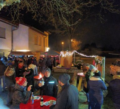 Weihnachtsmarktstimmung bei der diesjährigen Weihnachtsfeier