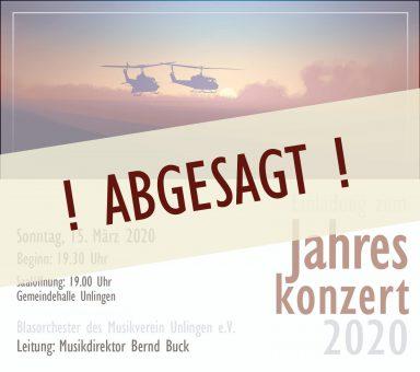ABGESAGT!  Jahreskonzert 2020 – letztes Konzert von MD Bernd Buck beim MVU